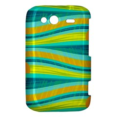 Yellow and blue decorative design HTC Wildfire S A510e Hardshell Case