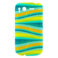Yellow and blue decorative design HTC Desire S Hardshell Case