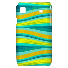 Yellow and blue decorative design Samsung Galaxy S i9000 Hardshell Case