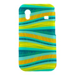 Yellow and blue decorative design Samsung Galaxy Ace S5830 Hardshell Case
