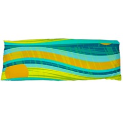 Yellow and blue decorative design Body Pillow Case Dakimakura (Two Sides)