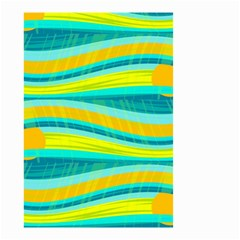 Yellow and blue decorative design Small Garden Flag (Two Sides)