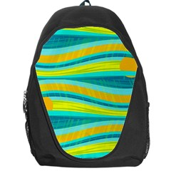 Yellow and blue decorative design Backpack Bag