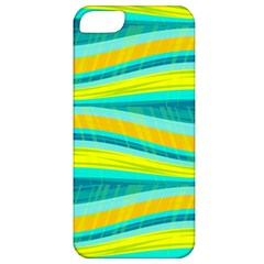 Yellow and blue decorative design Apple iPhone 5 Classic Hardshell Case