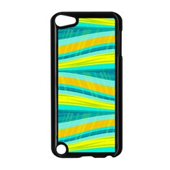 Yellow and blue decorative design Apple iPod Touch 5 Case (Black)