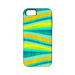 Yellow and blue decorative design Apple iPhone 5 Classic Hardshell Case (PC+Silicone)
