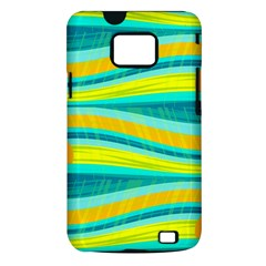 Yellow and blue decorative design Samsung Galaxy S II i9100 Hardshell Case (PC+Silicone)
