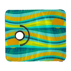 Yellow and blue decorative design Samsung Galaxy S  III Flip 360 Case