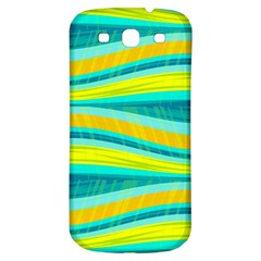 Yellow and blue decorative design Samsung Galaxy S3 S III Classic Hardshell Back Case