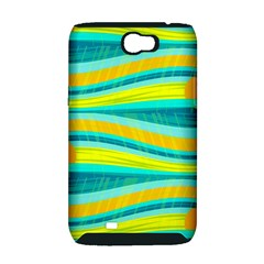 Yellow and blue decorative design Samsung Galaxy Note 2 Hardshell Case (PC+Silicone)