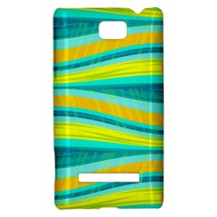 Yellow and blue decorative design HTC 8S Hardshell Case