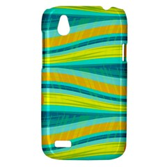 Yellow and blue decorative design HTC Desire V (T328W) Hardshell Case