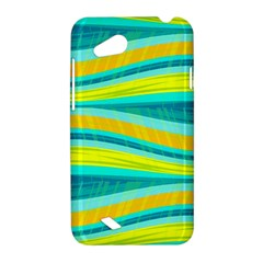 Yellow and blue decorative design HTC Desire VC (T328D) Hardshell Case
