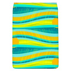 Yellow and blue decorative design Flap Covers (L)