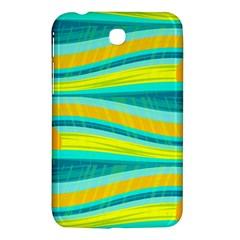 Yellow and blue decorative design Samsung Galaxy Tab 3 (7 ) P3200 Hardshell Case