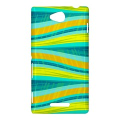 Yellow and blue decorative design Sony Xperia C (S39H)
