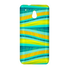 Yellow and blue decorative design HTC One Mini (601e) M4 Hardshell Case
