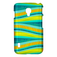Yellow and blue decorative design LG Optimus L7 II