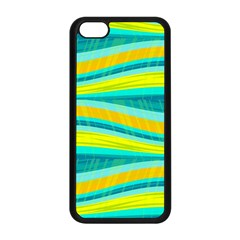 Yellow and blue decorative design Apple iPhone 5C Seamless Case (Black)