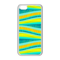 Yellow and blue decorative design Apple iPhone 5C Seamless Case (White)