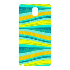 Yellow and blue decorative design Samsung Galaxy Note 3 N9005 Hardshell Back Case