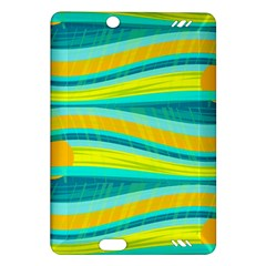 Yellow and blue decorative design Amazon Kindle Fire HD (2013) Hardshell Case
