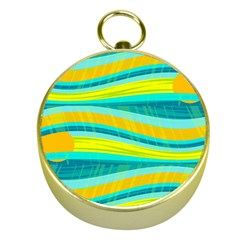 Yellow and blue decorative design Gold Compasses