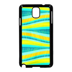 Yellow and blue decorative design Samsung Galaxy Note 3 Neo Hardshell Case (Black)