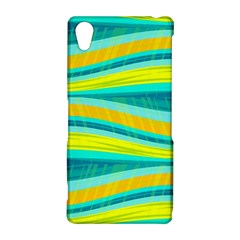 Yellow and blue decorative design Sony Xperia Z2