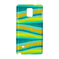 Yellow and blue decorative design Samsung Galaxy Note 4 Hardshell Case