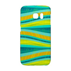 Yellow and blue decorative design Galaxy S6 Edge