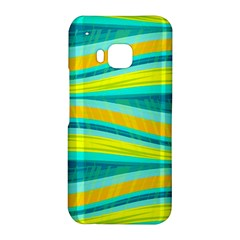 Yellow and blue decorative design HTC One M9 Hardshell Case