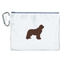 Newfie Silo Brown Canvas Cosmetic Bag (XXL)