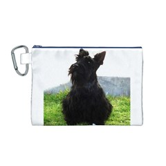 Scottish Terrier Sitting Canvas Cosmetic Bag (M)