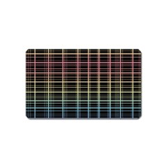 Neon plaid design Magnet (Name Card)