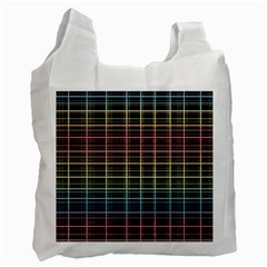 Neon plaid design Recycle Bag (One Side)