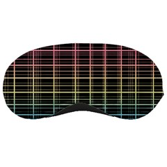 Neon plaid design Sleeping Masks
