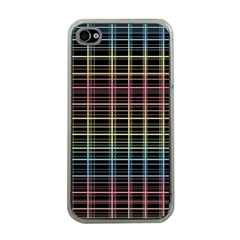 Neon plaid design Apple iPhone 4 Case (Clear)