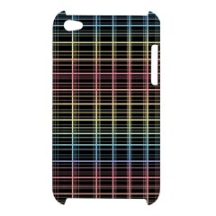 Neon plaid design Apple iPod Touch 4