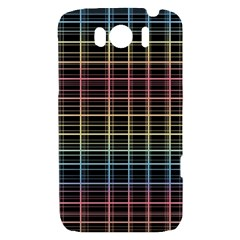 Neon plaid design HTC Sensation XL Hardshell Case