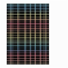 Neon plaid design Small Garden Flag (Two Sides)