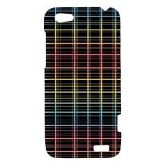 Neon plaid design HTC One V Hardshell Case