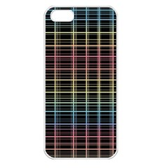 Neon plaid design Apple iPhone 5 Seamless Case (White)