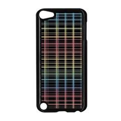 Neon plaid design Apple iPod Touch 5 Case (Black)