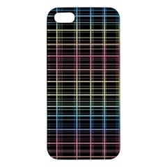 Neon plaid design iPhone 5S/ SE Premium Hardshell Case