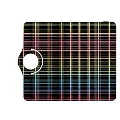Neon plaid design Kindle Fire HDX 8.9  Flip 360 Case