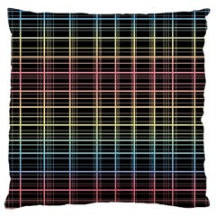 Neon plaid design Large Flano Cushion Case (One Side)