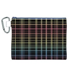 Neon plaid design Canvas Cosmetic Bag (XL)