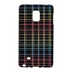 Neon plaid design Galaxy Note Edge