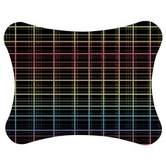 Neon plaid design Jigsaw Puzzle Photo Stand (Bow)
